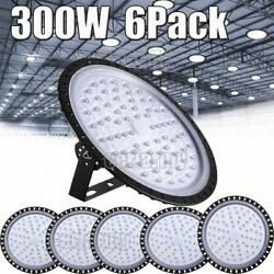 6X 300W UFO LED High Bay Light Shop Lights Warehouse Commercial Lighting Lamp