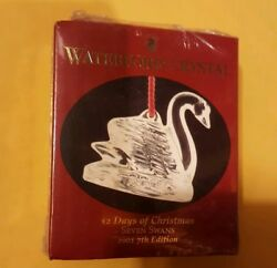 12 DAYS OF CHRISTMAS SEVEN SWANS SWIMMING WATERFORD CRYSTAL ORNAMENT 2001 *NEW* $24.99