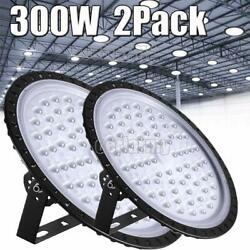 2X 300W UFO LED High Bay Light Shop Lights Warehouse Commercial Lighting Lamp