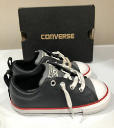 Converse All Star Boy's Leather Sneakers EUC Worn 1x Size 9 $14.90
