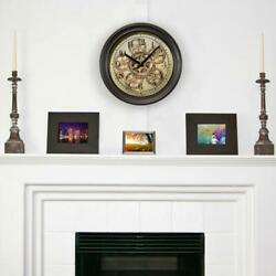 La Crosse Technology Analog Wall Clock Working Gears Non Ticking Glass Face $55.97