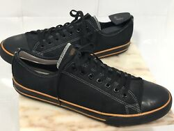 HARLEY DAVIDSON HD Black LOW TOP LEATHER LACE UP SHOES Size 12 MENS D93197 $46.75