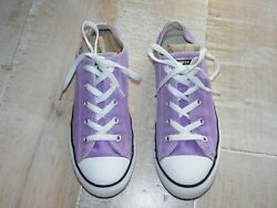 CONVERSE ALL STAR girls purple sneakers athletic shoes 4 $14.99