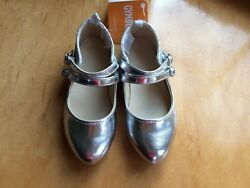 NWT Gymboree Fun and Fancy Girls Silver Flats Dress Shoes Holiday 9114 $17.99