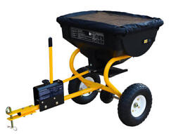 Large Tow Behind Broadcast Spreader Hopper Fertilizer Seed ATV Lawn Tractor Pull $94.22