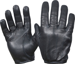 PERRINI RETRO Cowhide Black Leather Lightweight Summer Driving Gloves S 2X $13.95