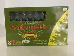 C7 Transparent Lamps Indoor Outdoor Decorating 25 Lamps Clear 23 ft. #T75250
