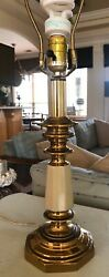 Stiffel Lamp Heavy Brass Gold Table Lamp Vintage $64.95