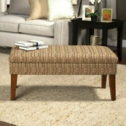 Entrance Bench Mid Century Modern Entryway Upholstered Storage Geometric Bedroom $129.95