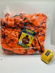 Dewalt heated jacket large Blaze Orange camo discontinued Color