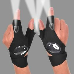 1 Pair LED Flashlight Gloves Finger with LED Night Light Outdoor Rescue Tools $9.97