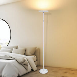 LED Torchiere Floor Lamp Dimmable 30W for Living Room Bedroom Office White $42.97