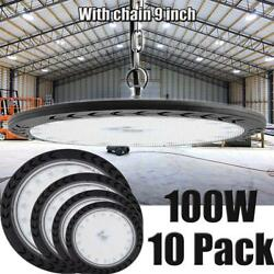 10X 100W 100 Watt UFO LED High Bay Light Shop Lights Gym Commercial Lighting US