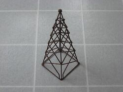 Vintage 14quot; Topiary Framed Pyramid Metal Wire Frame Sculpture Super Rare Awesome $30.00