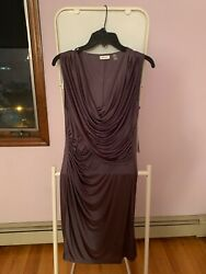 DKNYC Cocktail Sleeves Gunmetal Grey dress New with tag size small $25.00