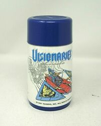 Aladdin Vintage Thermos Only 1987 Visionaries Knights of Magic Blue Lid 6.5quot; #B $15.00