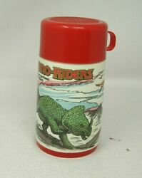 Aladdin Vintage Thermos Only 1988 Dino Riders Tyco Dinosaurs Red Lid 6.5quot; EUC #B $25.00
