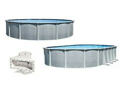 Lifestyle 54quot; Wall Above Ground Swimming Pool w Liner amp; Skimmer $3898.96