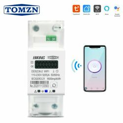 Tuya Single Phase 65A Din Rail WIFI Smart Energy Meter timer Power Consumption $42.00