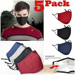 Adjustable ADULTS Triple Layers Cotton Washable Reusable With Pocket Face Mask $11.50