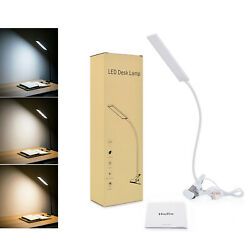 5W Dimmable 48LED Desk Lamp Clip On Lamp USB Desk Bedside Reading Book Lamp $13.59