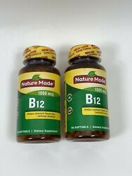 Nature Made Vitamin B12 1000 mcg 2 Bottle LOT 9090 180 Count EXP 2021 $13.50