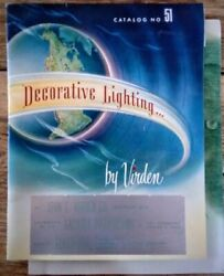 1951 Virden Decorative Lighting Catalog MID CENTURY MODERN Neon FLUORESCENCE