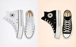 CONVERSE CANVAS PLATFORM CHUCK TAYLOR ALL STAR WOMEN SHOES. ALL SIZES. $89.99