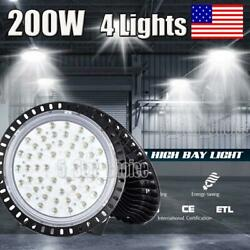 4X 200W 200 Watt UFO LED High Bay Light Shop Lights Commercial Lighting Fixture