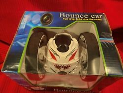Rechargeable Remote Control Jumping Bounce Car White Flips Spins $35.00