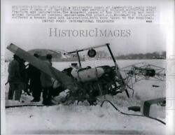 1960 Press Photo Scene of helicopter crash in St Louis $19.99