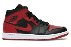 Nike Air Jordan 1 Mid Banned 2020 Bred 554724 074 Men amp; 554725 074 GS New DS