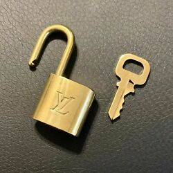 Authentic LOUIS VUITTON Brass Padlock with Matching Key LV Lock Number Varies $64.99
