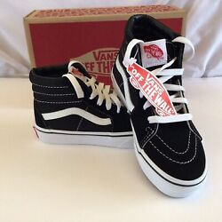 "VANS ""Off The Wall"" Kids SK8 Hi V Black True White Skateboard Shoe Youth Size $44.99"
