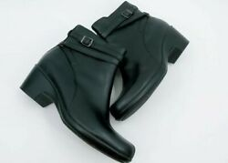 Clarks Womens Boots Black Leather Ankle Bootie Size 7.5 $23.90