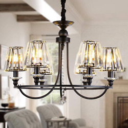 OSAIRUOS 6 Lights Contemporary Crystal Chandeliers for Dining 6 lights Black $250.00