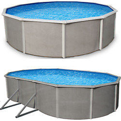 Belize 48quot; or 52quot; Steel Wall Above Ground Pool Kit plus Starter Package $3064.90