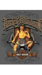 "TIN SIGN quot;Harley Davidson Babe"" Motorcycle Garage Cycle Rustic Decor Hog Mancave $7.35"