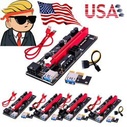 5PCS 60cm VER009S PCI E Riser Card PCIe 1x to 16x USB 3.0 Data Cable Bitcoin $45.95