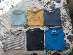 Mens Designer Clothes Bundle Medium X6 M Joules Penguin Polo Shirt Joblot Shirts
