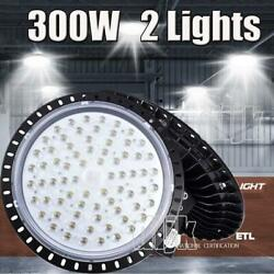 2X 300W 300 Watt UFO LED High Bay Light Shop Lights Commercial Lighting Fixture