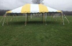 Used 20x30 Commercial Pole Tent Yellow white
