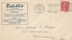 US commercial cover Odells Jewelers Galesburg IL 1932