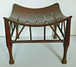 Antique Thebes Stool Wooden Egyptian Revival Arts and Crafts Period Circa 1900 $1375.00