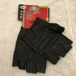 Bell Rally Black Summer Bicycle Bike Gloves Cow Hide Palm and Finger Size M L $22.77