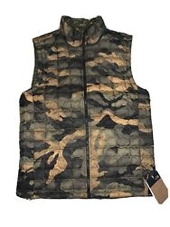 NEW The North Face ThermoBall Eco Vest MENS MEDIUM Camo Print $150. $63.00