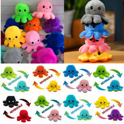 Octopus Plush Reversible Soft Mood Flip Stuffed Toy Animal Home Accessories Gift $19.99