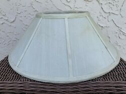White Linen Fabric Bell Lamp Shade Spider 7.5quot; x 18quot; x 8quot; $29.99