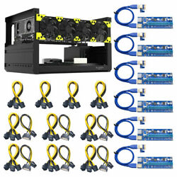 Veddha V3C 6 8 GPU Mining Rig Aluminum Case Stackable Open Air Frame amp; Cable $299.50