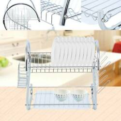 Kitchen Dish Drying Rack Shelf Drainer Dryer Tray Cutlery Holder Organizer $18.82